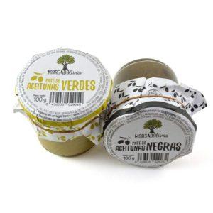 Paté de Aceitunas Negras, 100 gr. Morgadolivas - Pack. - 12 Unidades