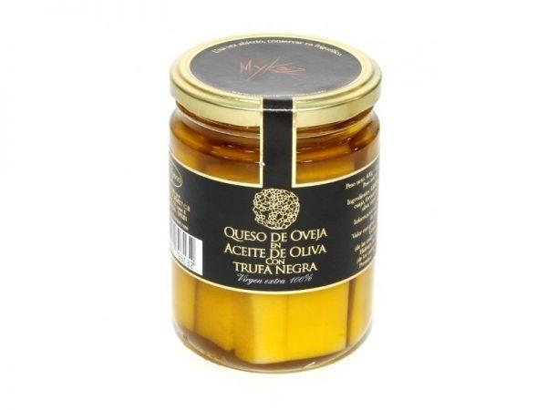 Queso de Oveja en Aceite de Oliva con Trufa Negra