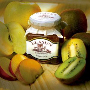 Mermelada Artesana de Kiwi y Manzana, 350 gr.- Elasun - 6 Unidades