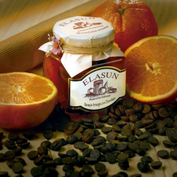 Mermelada Artesana de Naranja Amarga con Chocolate, 350 gr.- Elasun - 6 Unidades